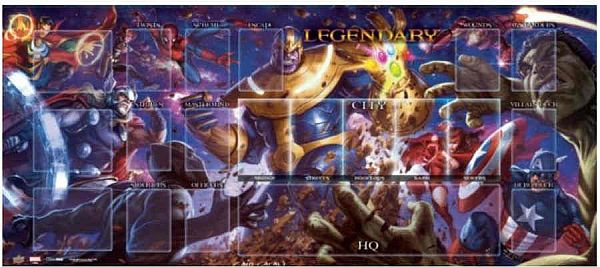 Spillemåtte (Playmat) - Marvel Legendary: Thanos VS Avengers