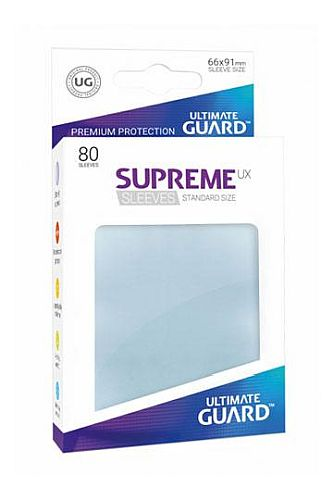 Ultimate Guard Supreme UX Sleeves (Lommer) Standard Size Transparent (Gennemsigtige) (80)