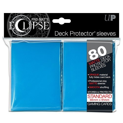 80 lommer -  Ultra Pro - Eclipse: Light Blue (Blå) (Top kvalitet) - Pro-Matte/Non-Glare - Professional Sleeves #85252