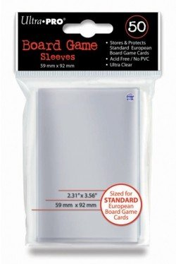 Ultra Pro - European Standard Card Sleeves - 59x92mm - 50 Lommer - #82602