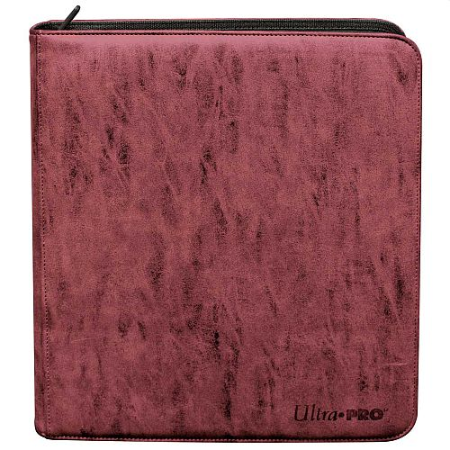 Mappe - Ultra Pro Suede Collection - Zippered Premium Deck Builder's Playset Pro-Binder: Ruby - 24x20 (Plads til 480 kort) #85930