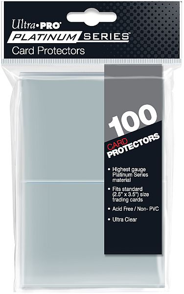 100 lommer -  Ultra Pro - Platinum Series: Clear (Gennemsigtig) (Top kvalitet) - Pro-Matte/Non-Glare - Professional Sleeves #15221