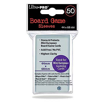 Ultra Pro - European Mini Card Sleeves (Purple Code) - 44x68mm - 50 Lommer - #82661