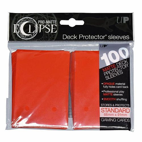 100 lommer -  Ultra Pro - Eclipse: Apple Red (Rød) (Top kvalitet) - Pro-Matte/Non-Glare - Professional Sleeves #85604