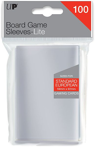 Ultra Pro - Lite European Standard Card Sleeves - 59x92mm - 100 Lommer - #85944