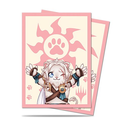 100 Lommer! Magic Chibi Collection: Ajani - Lion Hug - Matte Deck Protector Sleeves - Ultra Pro #86907