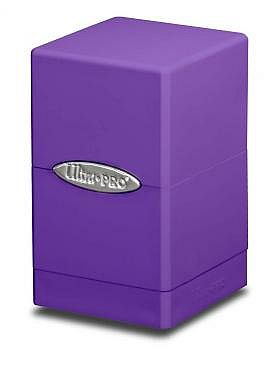 Deck Box - Satin Tower: Purple (Lilla) - Ultra Pro #84181